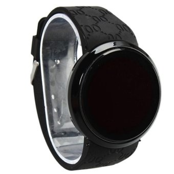 Okdeals Waterproof Mens LED Touch Screen Date Silicone Wrist Watch Black