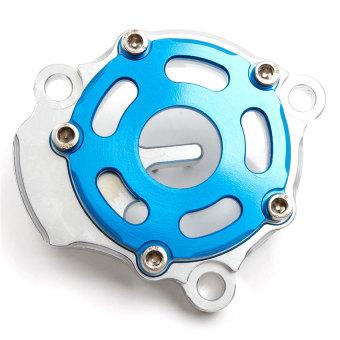 Okimura Oil Filter Cover (Blue/Silver) - picture 2
