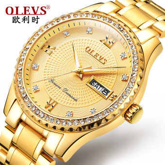OLEVS fashion stainless steel with a waterproof men's watch men's watch