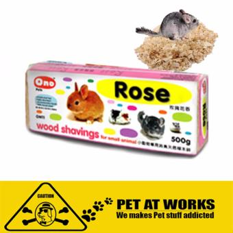 Ono Wood Shaving - Rose (1kg) for hamster and other pets deodorantnatural wood pet