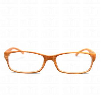 Optical Rectangular Lightweigth Eyeglass 2087_BrownWood Replaceable Lenses with Spring Hinges_Unisex - 2