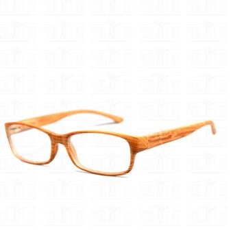 Optical Rectangular Lightweigth Eyeglass 2087_BrownWood Replaceable Lenses with Spring Hinges_Unisex - 4