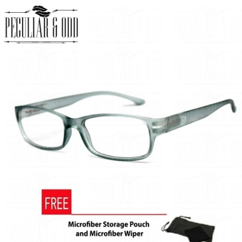 Optical Rectangular Lightweigth Eyeglass 2087_Grey Replaceable Lenses with Spring Hinges_Unisex