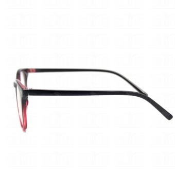 Optical Round Lightweigth Flexible Spectacles 2283_BlackRed Multi-coated Computer Anti-Radiation Blue Lens Replaceable Lens_Unisex - 5