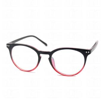 Optical Round Lightweigth Flexible Spectacles 2283_BlackRed Multi-coated Computer Anti-Radiation Blue Lens Replaceable Lens_Unisex - 3