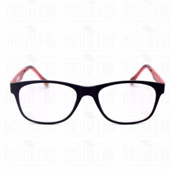 Optical Square 8609_BlackRed Clear Lens Lightweight Replaceable Eyeglasses Multi-coated Computer Anti-Radiation Blue Lens - Unisex - 2