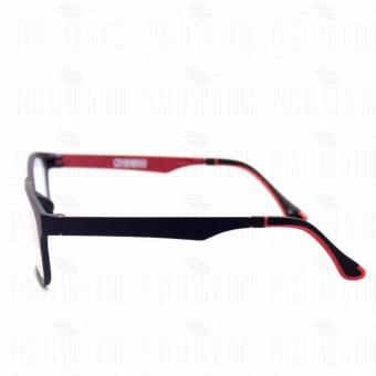 Optical Square 8609_BlackRed Clear Lens Lightweight Replaceable Eyeglasses Multi-coated Computer Anti-Radiation Blue Lens - Unisex - 4