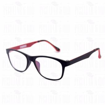Optical Square 8609_BlackRed Clear Lens Lightweight Replaceable Eyeglasses Multi-coated Computer Anti-Radiation Blue Lens - Unisex - 3