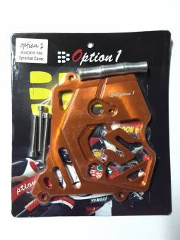 Option1 Sprocket Cover Alloy for Raider150 (ORANGE)