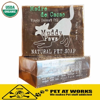 Organic Madre De Cacao Soap (2 packs) with Virgin Coconut Oil for Natural Pet Soap and Dog Shampoo