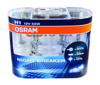 Osram Night Breaker H1 Headlight Replacement Bulb Pair