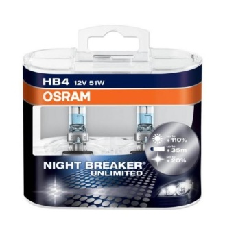 OSRAM Night Breaker Unlimited HB4 Twin Pack Headlight bulb Price Philippines