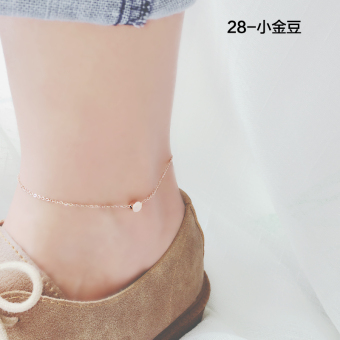 Ou Yaqi k007 titanium steel rose gold color gold security and color anklets