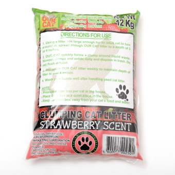 Our Cat Clumping Cat Litter Strawberry 12kg - 2