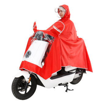 Outdoor electric car motorcycle adult hood raincoat