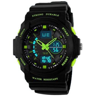 Outdoor Mountaineering Waterproof LED Digital Watch Green
