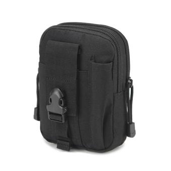 Outdoor Sports Tactical Pockets M 5.5 / 6 inch Waterproof Bag 600DWaterproof Nylon Phone Running Belt Waist Bag(Black) - 2