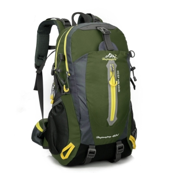 Outdoor Water Travel Shoulders Mountaineering Sports Bag StudentBackpack (Army Green) - intl - 2