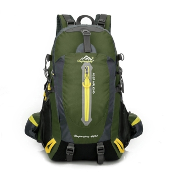 Outdoor Water Travel Shoulders Mountaineering Sports Bag StudentBackpack (Army Green) - intl