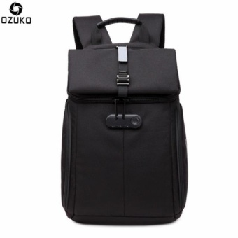 OZUKO Waterproof Oxford 15-inch Laptop Backpack Large CapacityBusiness Backpack Anti-theft Reflective Travel Bag Fashion SchoolBag - intl - 2