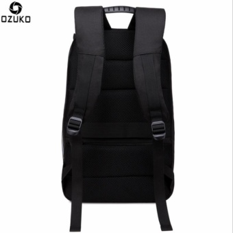OZUKO Waterproof Oxford 15-inch Laptop Backpack Large CapacityBusiness Backpack Anti-theft Reflective Travel Bag Fashion SchoolBag - intl - 3