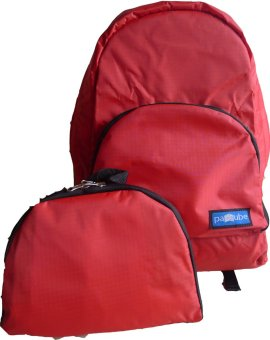 Paccube Lightweight Packable Backpack (Ruby Red) - picture 2