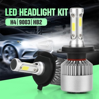 Pack of 2 H4 HB2 9003 COB LED Auto Car Headlight Bulb, Universal 40W 10000LM All In One Car LED Headlights Bulb Fog Light, White 6000K Head Lamp Fog Lights