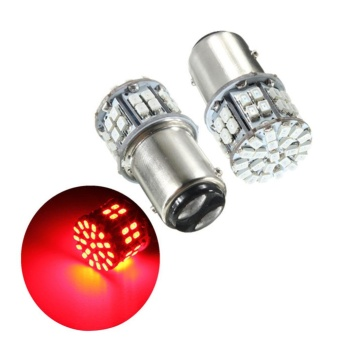 Pack of 2 Super Bright BAY15D 1157 50SMD 1206 LED Car Brake Light, DC 12V 50 LEDs Auto Rear Tail Lights, Red Turn Signal Lamps Bulb Color:Red - intl