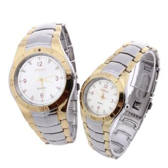 Pair Couple Lover Wristwatch Wrist Watch Alloy Band Arabic Numerals Fashion
