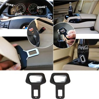 PAlight 4pcs Automobiles Safety Belt Fasteners Auto Buckle Dual-usage Seat Belt Clips for Cars Beer Soda Bottles Opener - intl