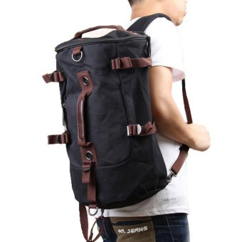 PAlight Men Outdoor travel Vintage Canvas Backpack Rucksack Laptop Shoulder Duffle Bag - intl