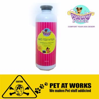 Pampered Pooch Anti Tick and Flea (500ml) Organic shampoo andconditioner for Dog
