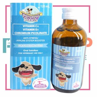 Pampered pooch Dog Vitamins Chromium Picolinate Anti-stress/ImmuneSystem Booster 120 ml