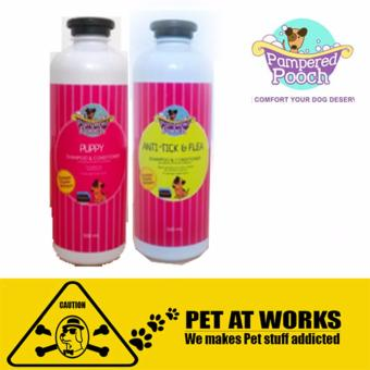 Pampered Pooch Puppy and Anti Tick and Flea (500ml) Organic shampooand conditioner for Dog
