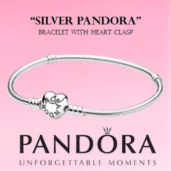 PANDORA Bracelet with Heart Clasp(21cm/8.3in) - intl