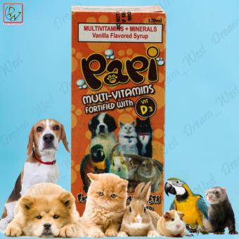 Papi Multi Vitamins with Vit D3 Food Supplement For Household Pets 120ml
