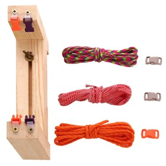 Paracord Bracelet Wristband Jig Maker with 3 Buckles 3 Random Color Parachute Cords for DIY Braiding Weaving Crafting - intl Price Philippines