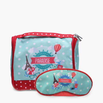Paradise Eye Mask and Toiletry Bag Set