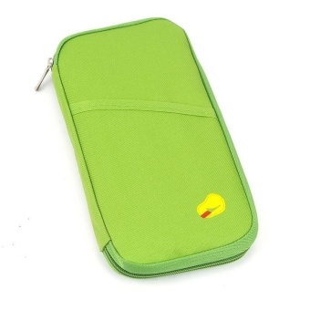 Passport Holder Long (Apple Green) with Free Digital Gadget DevicesCable Pouch (Color may vary)