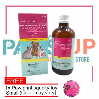 Paws Up LC VIT Multivitamins 120 mL syrup Bundle Price Philippines