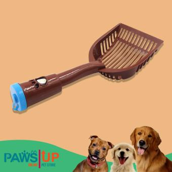 Paws UP Toilet shovel Pet dog poop Cleaning Waste Dust Pan poopshovel excrement cleaning dog Pooper scoopers(brown)