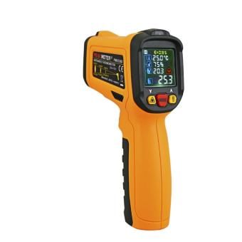 PEAKMETER PM6530D Display Handheld Infrared Thermometer with Humidity & Dew IRT K-type LCD Temperature Controller -50-800Deg.C - 4