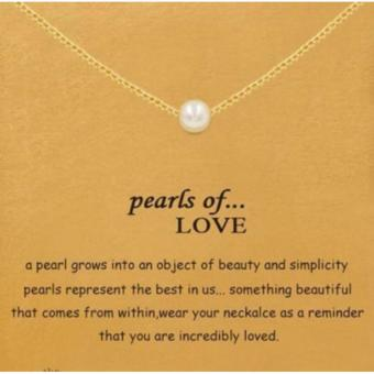 PEARLS OF LOVE pendant necklace gold dipped
