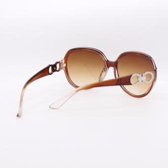 Peculiar's Oversized Sunglasses with CC Concept for Women Brown_9577 - 5