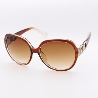 Peculiar's Oversized Sunglasses with CC Concept for Women Brown_9577 - 3