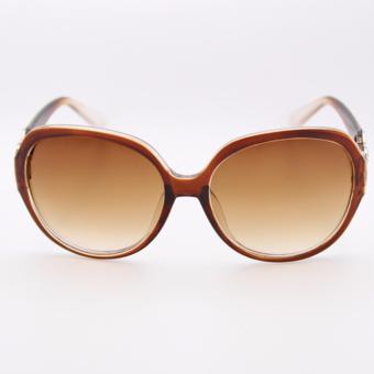 Peculiar's Oversized Sunglasses with CC Concept for Women Brown_9577 - 2