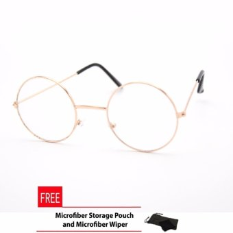 Peculiar's Potter Unisex Full Metal Rim Round Frame Eyeglasses Clear Lens_1500A_Gold HP Optical Frame Replaceable Lens - Unisex