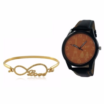 Persian Princess Love and Infinity Bracelet With Lovers in Paris Watch for Woman