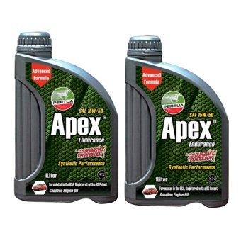 Pertua Apex Synthetic Performance Gasoline Engine Oil SAE 15W/50 1L Bundle of 2