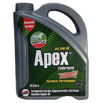 PERTUA Apex Synthetic Performance Gasoline Engine Oil SAE 15W/50 4L